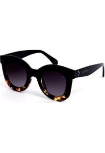 Óculos De Sol Sunnies Grande Retrô Azul E Tartaruga - Kanui