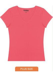 Blusa Básica Feminina Rovitex Rosa