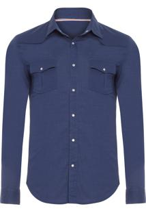 Camisa Masculina Travel Shirt - Azul