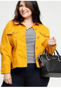 Jaqueta Feminina Sarja Botões Plus Size Marisa