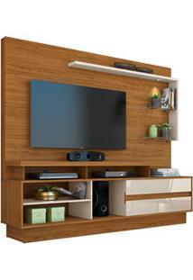 Estante Home Theater Para Tv Até 60 Pol. Vicente Naturale/Off White -