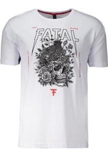 Camiseta Fatal Strong Estampada - Masculino-Branco