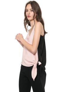Regata Calvin Klein Jeans Assimétrica Rosa/Preta