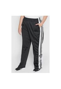Calça Adidas Originals Reta Adicolor Classics Adibreak Preta/Branca