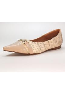 Sapatilha Jk Shoes Bico Fino Bege - Kanui