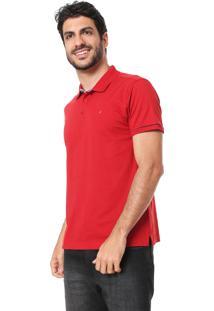 Camisa Polo Aramis Reta Lisa Vermelha