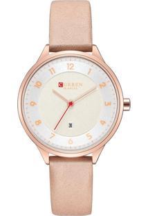 Relógio Curren Analógico C9035L Rosa