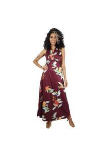 Vestido Mercatto Longo Floral Roxa
