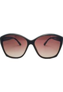 Óculos De Sol Evoke Lady Diamond Feminino - Feminino-Marrom
