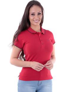 Camisa Polo Cp0723 Slim Traymon Vermelha