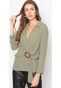 Blusa Com Fivela- Verde- Seduã§Ã£O Dressseduã§Ã£O Dress