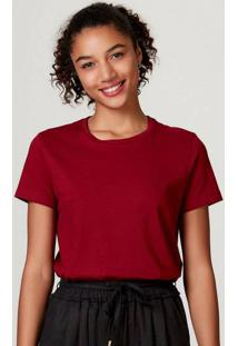 Camiseta Básica Feminina Manga Curta Em Algodão Pima
