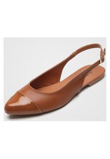 Sapatilha Dafiti Shoes Verniz Caramelo