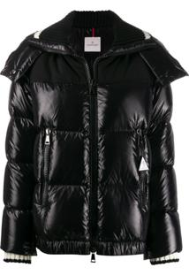 Moncler Hooded Padded Jacket - Preto