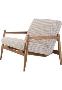 Poltrona Dudis Assento Estofado Estampado Com Pes De Madeira - 49465 - Sun House