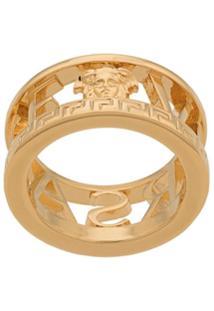 Versace Greca Logo Ring - Dourado