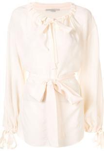 Stella Mccartney Blusa Com Cordão De Ajuste E Detalhe De Amarração - Branco