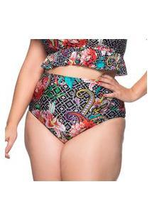 Calcinha Hot Pants Flower Vichy Plus Size La Playa 2019