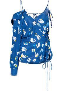 Altuzarra Blusa Assimétrica - Azul