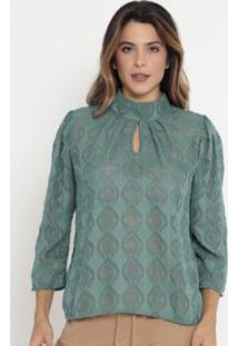 Blusa Geométrica Texturizada Operate Feminina - Feminino