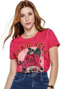 Blusa Rosa Escuro Rock 'N' Roll Tingida
