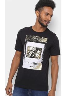 Camiseta Cavalera Minimal Masculina - Masculino-Preto