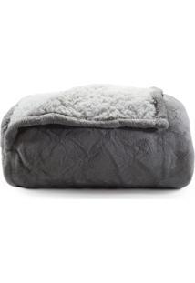 Manta Cobertor Tessi Sherpa Queen Microfibra - Dupla Face