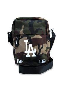 Bolsa New Era Transversal Mlb Los Angeles Dodgers Camuflada Verde