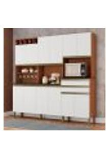 Cozinha Compacta Malbec Prime 12 Pt 2 Gv Marrom E Branco