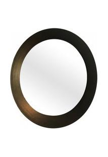 Espelho Decorativo Paella Ouro Velho Craquelado 60 Cm Redondo
