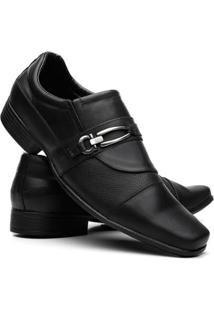 Sapato Social Masculino Couro Legítimo Fivela Vicerinne - Masculino-Preto