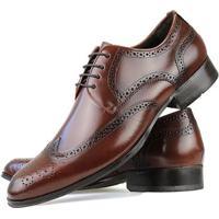 1455e25a0 Sapato Social Florense Oxford Classico Couro Masculino - Masculino-Caramelo