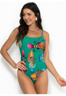 Body Estampado Verde
