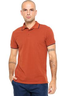 Camisa Polo Colcci Logo Marrom