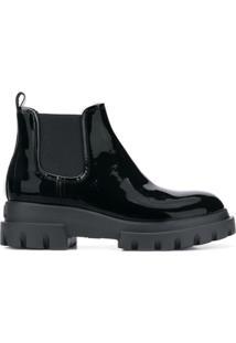 Agl Ankle Boot De Couro - Preto