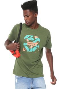 Camiseta Hurley Box Floral Verde