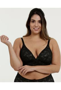 Sutiã Feminino Com Base Renda Plus Size Demillus