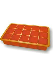 Forma De Gelo Em Silicone 15 Cubos Laranja S6014B-Vm
