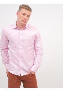 Camisa Slim Texturizada - Rosa Claro - Colccicolcci
