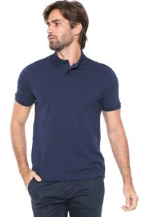 Camisa Polo Malwee Reta Básica Azul-Marinho