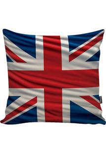 Capa De Almofada Britannic Flag- Azul & Vermelha- 45Stm Home