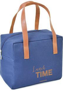 "Bolsa Térmica ""Lunch Time""- Azul & Marrom Claro- 22Xboxmania"