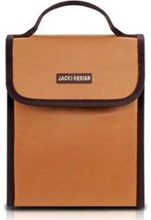 Bolsa Térmica Jacki Design Lisa - Unissex-Marrom+Amarelo