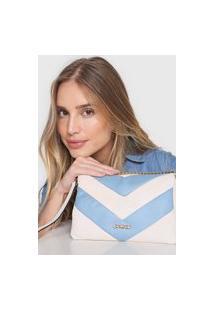 Bolsa Dumond Color Block Branca/Azul