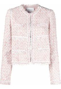 Giambattista Valli Jaqueta Cropped De Tweed - Rosa