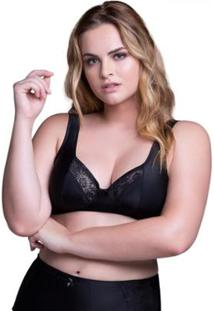 Sutiã Beline Plus Size Sustentação E Conforto Marcyn - Feminino-Preto