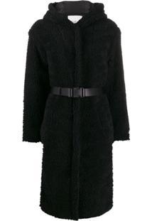 Ba&Sh Casaco Filip De Lã Com Cinto - Preto