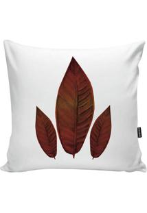Capa Para Almofada Red Foliage- Branca & Laranja Escuro