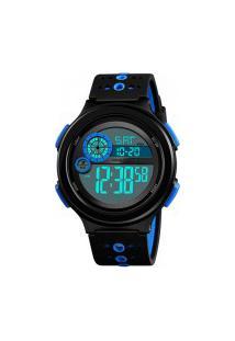 Relógio Skmei Masculino -1374- Preto E Azul