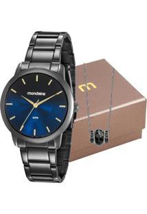Kit Relógio Mondaine Feminino Com Colar 53606Lpmvpe5K2